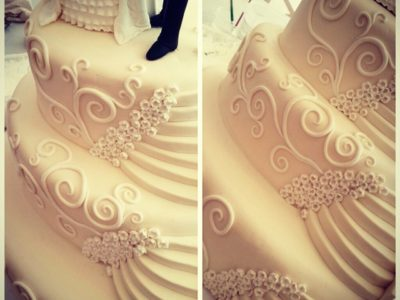 vintage düğün pastası