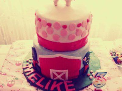 2 katlı Hello Kitty Doğum Günü Pastası