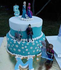Frozen Doğum Günü Pastası