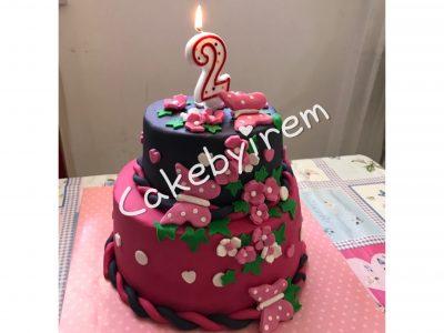 2 yaş kelebekli pasta